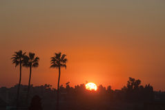 Zonsondergang in Marrakech Royalty-vrije Stock Fotografie