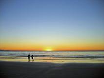 Zonsondergang met Mum stock foto's