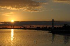 Zonsondergang in Mexico Royalty-vrije Stock Afbeeldingen