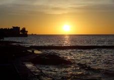 Zonsondergang in Mexico Royalty-vrije Stock Foto's