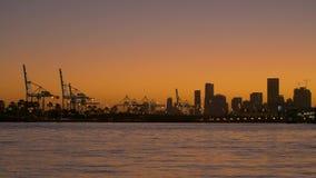 Zonsondergang in Miami stock video
