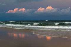 Zonsondergang 75 Mijlstrand Stock Afbeelding