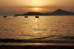 Zonsondergang in Montenegro Royalty-vrije Stock Afbeeldingen