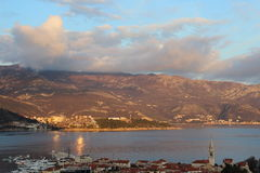 Zonsondergang in montenergo Royalty-vrije Stock Foto