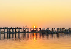 Zonsondergang Myanmar Stock Foto's