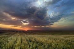 Zonsondergang na de regen Royalty-vrije Stock Foto