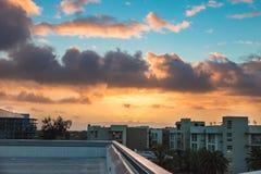 Zonsondergang na de regen Royalty-vrije Stock Afbeeldingen