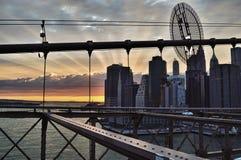 Zonsondergang in New York Royalty-vrije Stock Fotografie