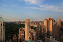 Zonsondergang New York Stock Foto