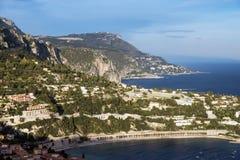 Zonsondergang in Nice, Frankrijk royalty-vrije stock fotografie