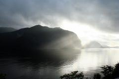 Zonsondergang in Noorwegen Royalty-vrije Stock Afbeelding