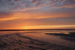 Zonsondergang in Nornandy Royalty-vrije Stock Afbeeldingen