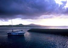 Zonsondergang in Okinawa Cape Busena Royalty-vrije Stock Foto's