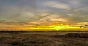 Zonsondergang in Oostelijk Colorado stock video