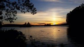 Zonsondergang op Ambejesus-meer Royalty-vrije Stock Afbeelding