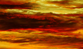 Zonsondergang op Bali Stock Afbeelding
