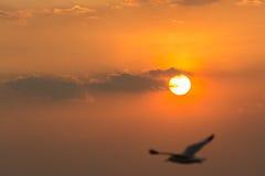 Zonsondergang op Bangpu-Recreatiecentrum Royalty-vrije Stock Afbeelding