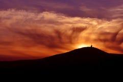Zonsondergang op bergen Stock Afbeeldingen