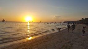 Zonsondergang op Boracay Stock Afbeelding