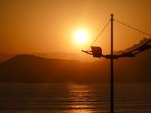 Zonsondergang op Braziliaans strand Stock Afbeelding