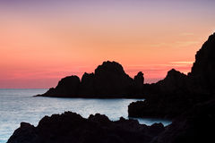 Zonsondergang op Cabo DE Gata Royalty-vrije Stock Fotografie