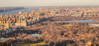 Zonsondergang op Central Park royalty-vrije stock afbeelding