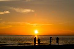 Zonsondergang op de Atlantische Oceaan Royalty-vrije Stock Foto's