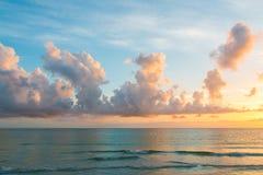 Zonsondergang op de Atlantische Oceaan Stock Fotografie