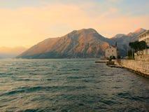 Zonsondergang op de baai royalty-vrije stock foto's