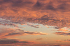 Zonsondergang op de baai Stock Foto