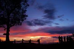 Zonsondergang op de berg Royalty-vrije Stock Foto's