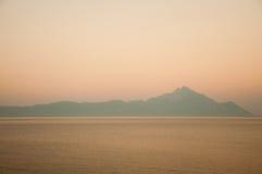 Zonsondergang op de berg Royalty-vrije Stock Fotografie