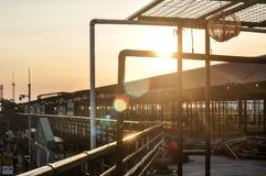 Zonsondergang op de bovenkant Stock Afbeelding