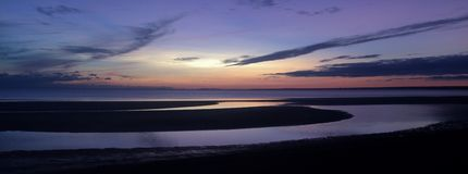 Zonsondergang op de Golf van Finland Stock Afbeelding