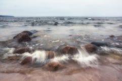 Zonsondergang op de Golf van Finland Royalty-vrije Stock Fotografie