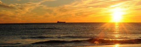Zonsondergang op de Golf van Mexico Royalty-vrije Stock Fotografie