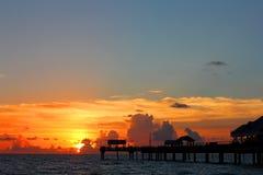 Zonsondergang op de Golf van Mexico Royalty-vrije Stock Afbeeldingen