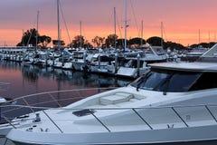 Zonsondergang op de Haven van San Diego Royalty-vrije Stock Afbeeldingen