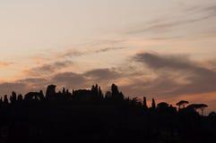 Zonsondergang op de Heuvel Royalty-vrije Stock Foto's