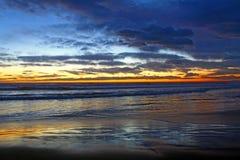 Zonsondergang op de Middellandse Zee Stock Afbeelding
