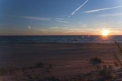 Zonsondergang op de Oostzee Stock Foto