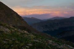 Zonsondergang op de Pas van Missouri - Colorado Royalty-vrije Stock Foto