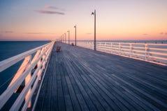 Zonsondergang op de pijler Stock Fotografie