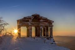 Zonsondergang op de tempel van donon Royalty-vrije Stock Afbeelding
