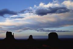 Zonsondergang op de Vallei van het Monument Stock Foto's