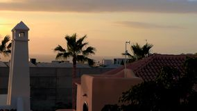 Zonsondergang op Eiland Tenerife stock video