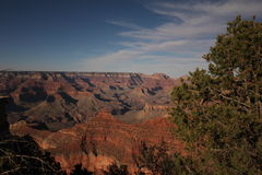 Zonsondergang op Grand Canyon Royalty-vrije Stock Afbeeldingen