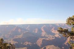 Zonsondergang op Grand Canyon royalty-vrije stock fotografie