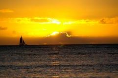 Zonsondergang op Hawaï royalty-vrije stock foto