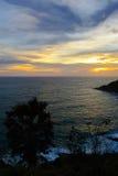 Zonsondergang op het Andaman-Overzees, Kaap Promthep Royalty-vrije Stock Foto